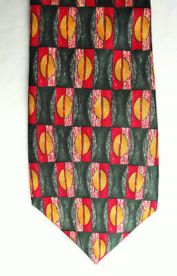 Bright check silk tie by Sovrano suitable for office or casual wear Multi-colour