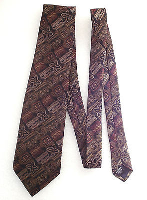 Floral tie Woven pattern Geometric shapes George