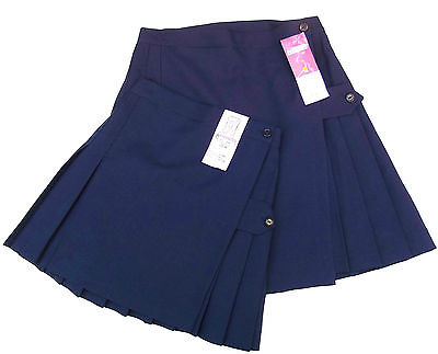 Girls hockey skirt Pleated SCHOOL GAMES KILT Navy blue NIMBUS 22 26 28 netball
