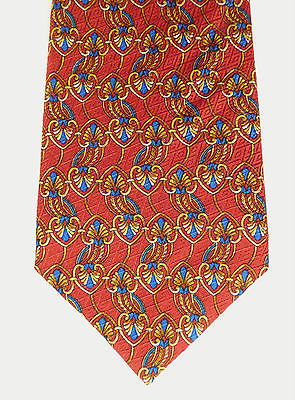 Mens silk novelty tie Bright and colourful Cecil Jones English