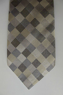 Quiet check pure silk M&S tie in muted colours