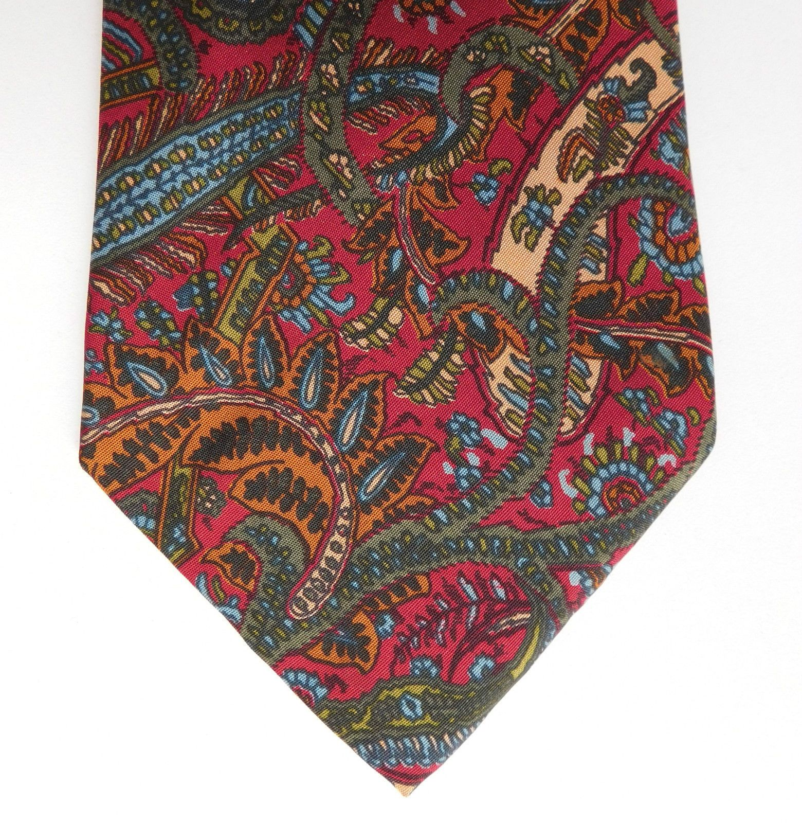 Silk Paisley Tie By Prochownick Pure Silk Italian Classic