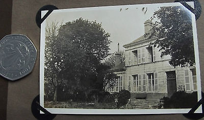 Vintage 1920s photograph Large house with shutters possibly a French school