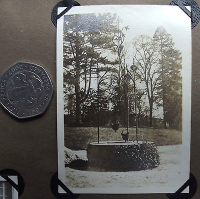 Vintage 1920s photograph Well with two buckets FRANCE wrought iron-work