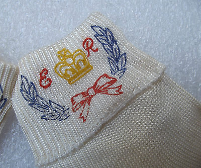 Vintage 1950s socks Royal Coronation child's Queen Elizabeth II Silquesta UNUSED