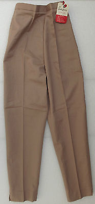 Vintage girls trousers slacks 1950s 1960s UNUSED Age 10 14 brown stone blue