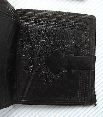 Vintage KANGAROO real leather old black wallet with lots of compartments