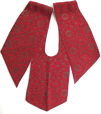 Vintage Paisley stock bib cravat Burgundy Equestrian sports or casual wear