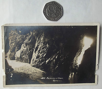 Vintage postcard Kynance Cove Cave The Lizard Cornwall POOR CONDITION Hawke