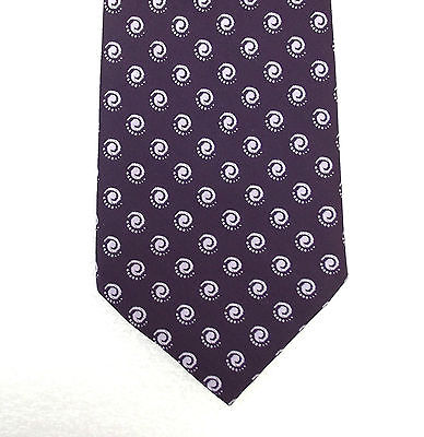 Vintage purple tie with spots Tri-Star Simplex polyester Spiral polka dots 1960s