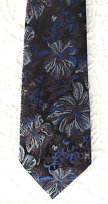Vintage tie 1960s with floral pattern 5th Avenue by DENNES